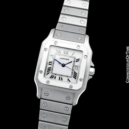 Cartier Cartier Santos Automatique Mens Bracelet Watch - Stainless Steel Image 3