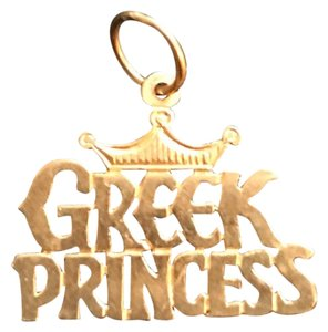 """Greek Princess"" Pendant ""Greek Princess"" Gold Pendant"