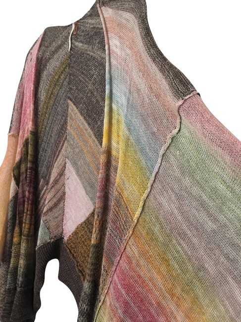 Preload https://img-static.tradesy.com/item/23690348/free-people-multi-brown-yellow-blue-pink-peach-grey-boho-multicolored-cardigan-size-petite-6-s-0-2-650-650.jpg