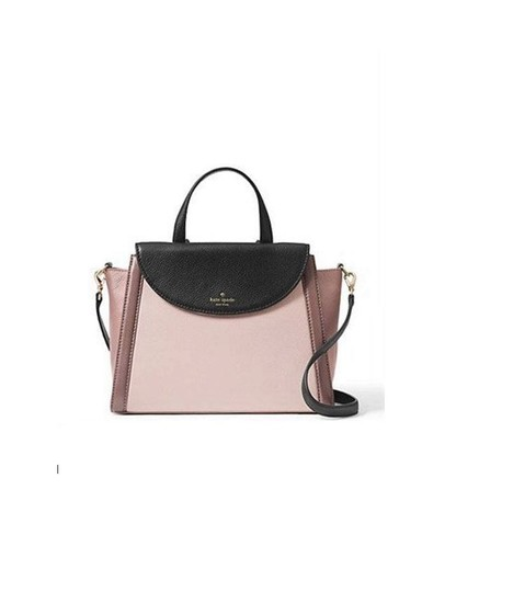 Preload https://img-static.tradesy.com/item/23690369/kate-spade-new-york-cobble-hill-adrien-colorblock-rose-cloud-black-porcini-leather-satchel-0-0-540-540.jpg