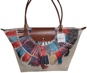 Longchamp New Limited Edition Collector Le Pliage Tote in Red and White