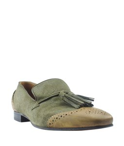 Christian Louboutin Loafers Suede Green Flats