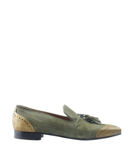 Christian Louboutin Loafers Suede Green Flats Image 2