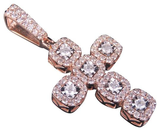 Preload https://img-static.tradesy.com/item/23690648/jewelry-unlimited-10k-rose-gold-men-s-diamond-square-cluster-cross-pendant-150-ct-175-charm-0-1-540-540.jpg