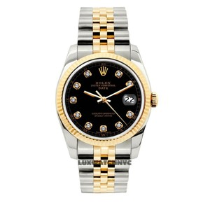 Rolex 34MM MIDSIZE DATE GOLD STAINLESS STEEL WITH BOX & APPRAISAL