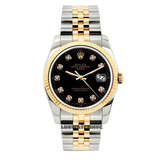 Preload https://img-static.tradesy.com/item/23690695/rolex-black-34mm-midsize-date-gold-stainless-steel-with-box-and-appraisal-watch-0-0-540-540.jpg
