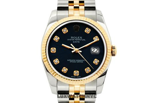 Rolex 34MM MIDSIZE DATE 2TONE WATCH WITH BOX & APPRAISAL Image 1