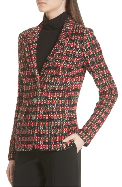 St. John Tweed Longsleeve Silk black multi Blazer Image 1