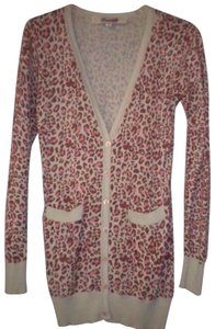 Emmelee Cardigan Animal Pattern Button Front Long Sleeve Sweater