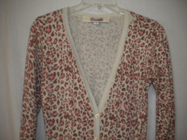 Emmelee Cardigan Animal Pattern Button Front Long Sleeve Tunic Sweater Image 1