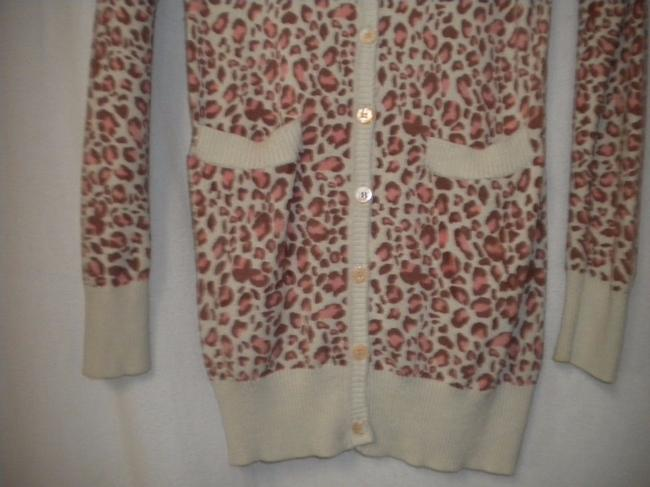 Emmelee Cardigan Animal Pattern Button Front Long Sleeve Tunic Sweater Image 2