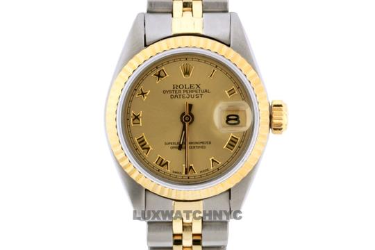 Rolex 26mm Ladies Datejust Gold Stainless Steel with Appraisal Image 1