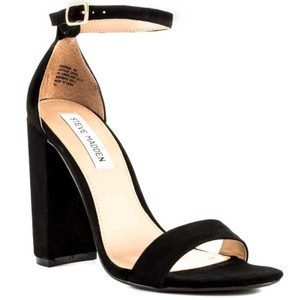Steve Madden Classy Fashion Suede Chunky Black Sandals