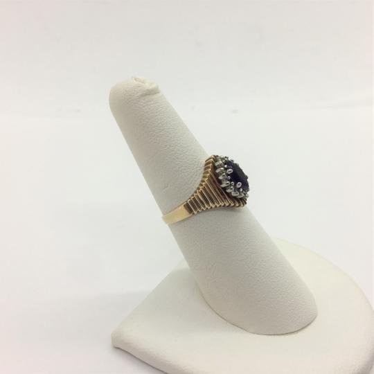 Other 10k Yellow Gold Vintage Amethyst and Diamond Ring Size 6.5 Image 1