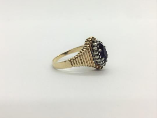 Other 10k Yellow Gold Vintage Amethyst and Diamond Ring Size 6.5 Image 3