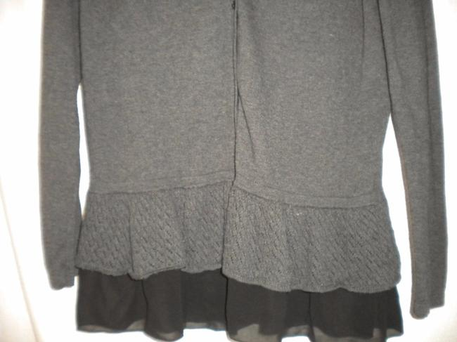Style & Co Cardigan Chiffon Trim Long Sleeve Coverup Tunic Sweater Image 2