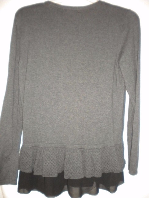 Style & Co Cardigan Chiffon Trim Long Sleeve Coverup Tunic Sweater Image 3