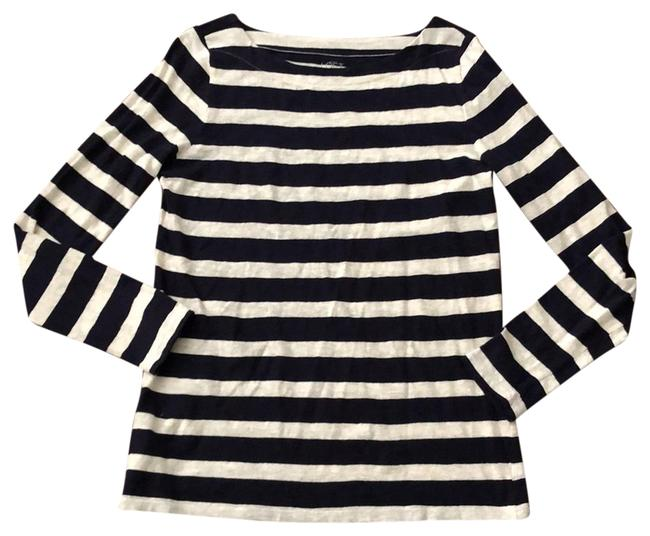 Item - Navy and Ivory Live Love Life Striped Tunic Size 12 (L)