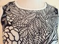 Cartise Beaded Front T Shirt Black & White Image 4