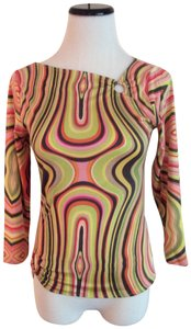 Lynn Ritchie Multi-colors Psychedelic Look Top Multi