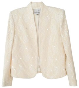 Nolan Miller Sequin Lace Pearl Ivory Jacket