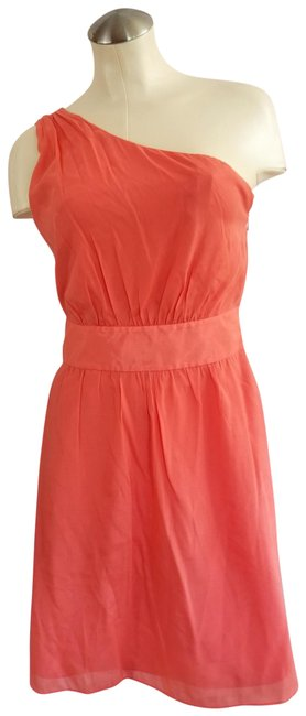 Preload https://img-static.tradesy.com/item/23691367/the-limited-coral-one-shoulder-mid-length-cocktail-dress-size-4-s-0-1-650-650.jpg