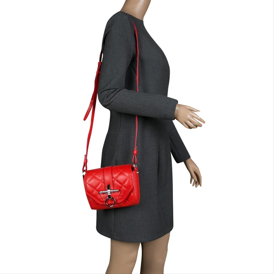 ee21802ef1 Givenchy Quilted Small Obsedia Crossbody Red Leather Shoulder Bag - Tradesy