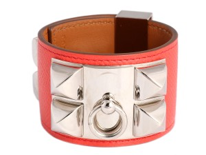 Hermès Pink Epsom Leather Collier de Chien CDC Bracelet