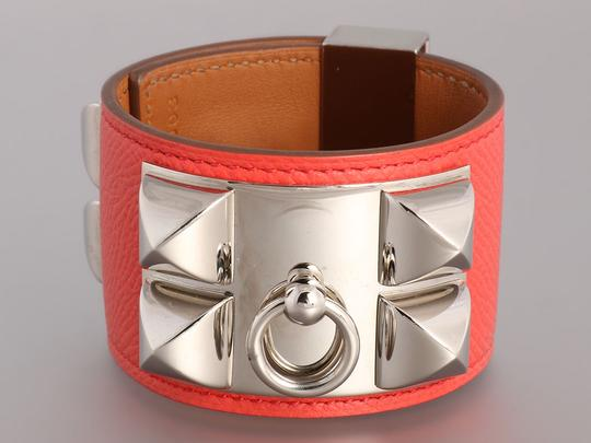 Hermès Pink Epsom Leather Collier de Chien CDC Bracelet Image 1