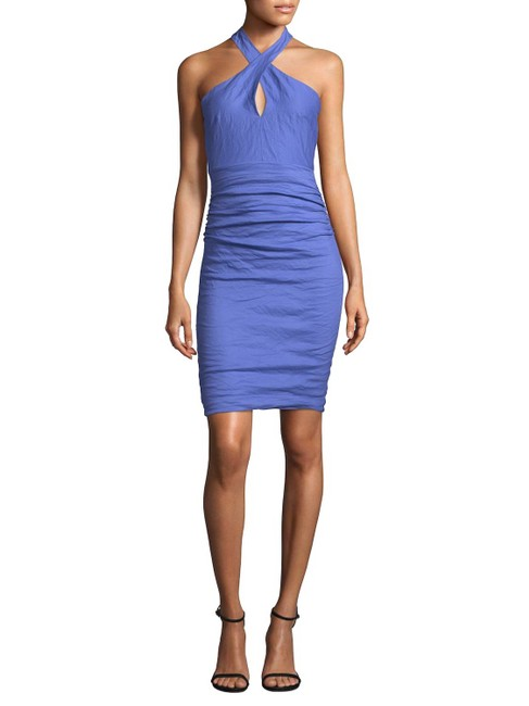Preload https://img-static.tradesy.com/item/23691494/nicole-miller-catalina-blue-loretta-halter-cocktail-dress-size-4-s-0-1-650-650.jpg