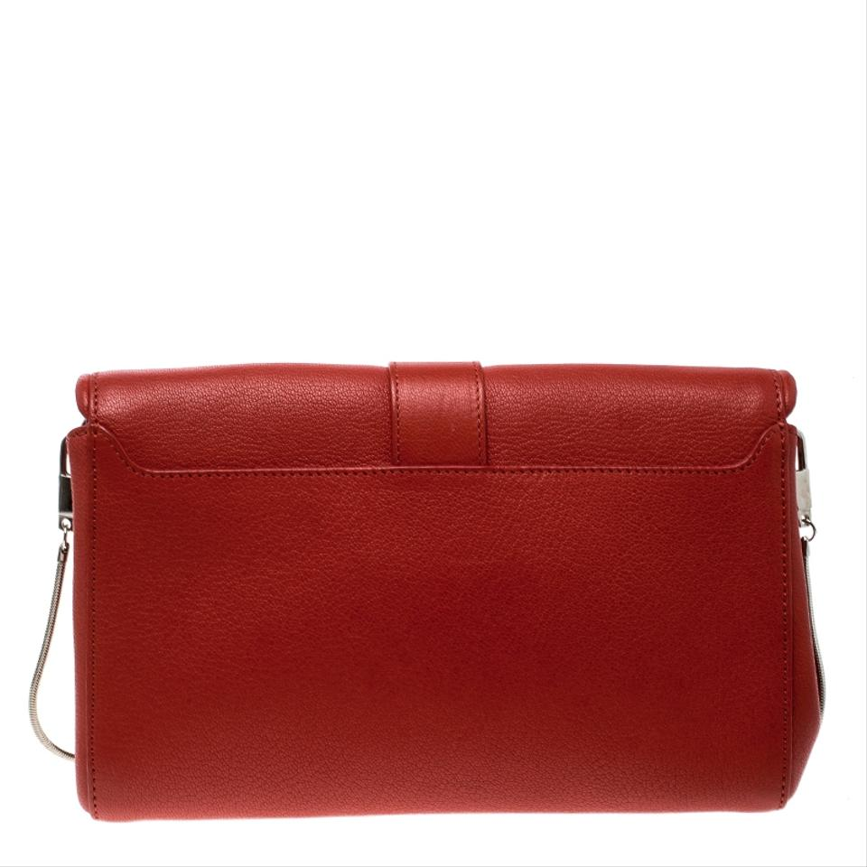 Givenchy Obsedia Chain Red Leather Clutch - Tradesy 33832390ee021