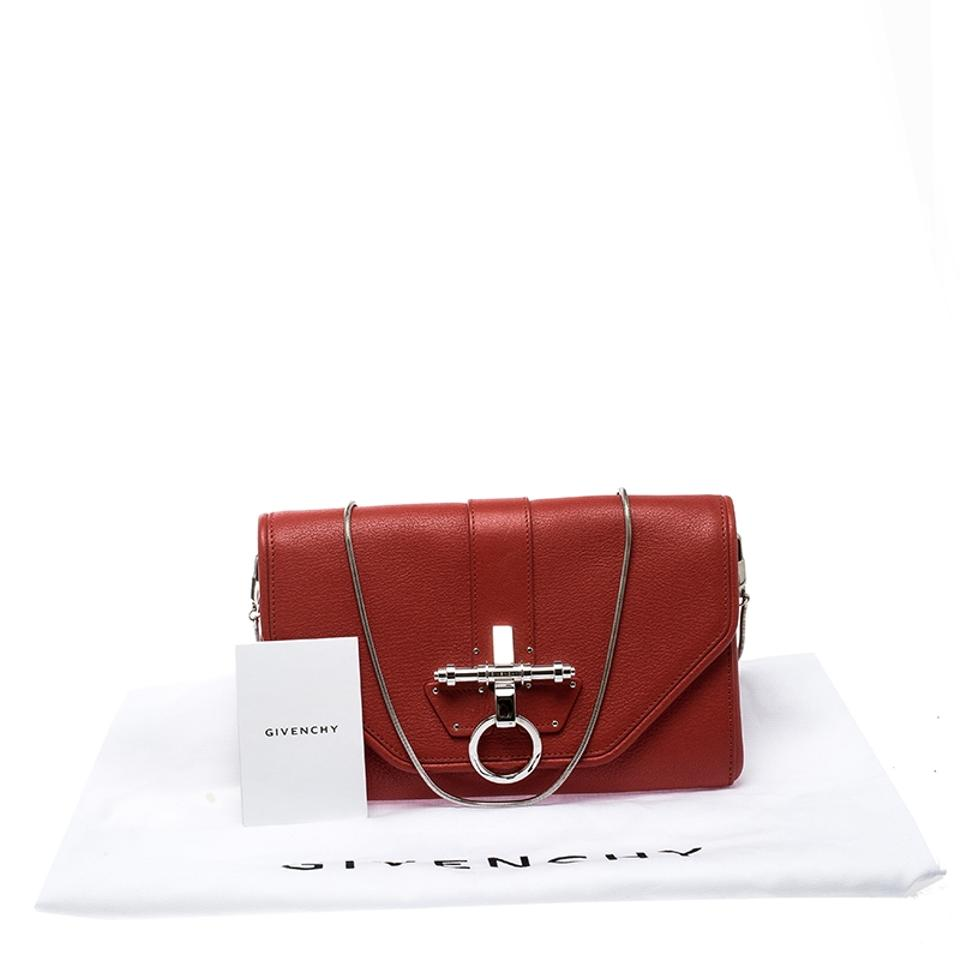 Red Obsedia Givenchy Leather Chain Clutch waXxqZ6