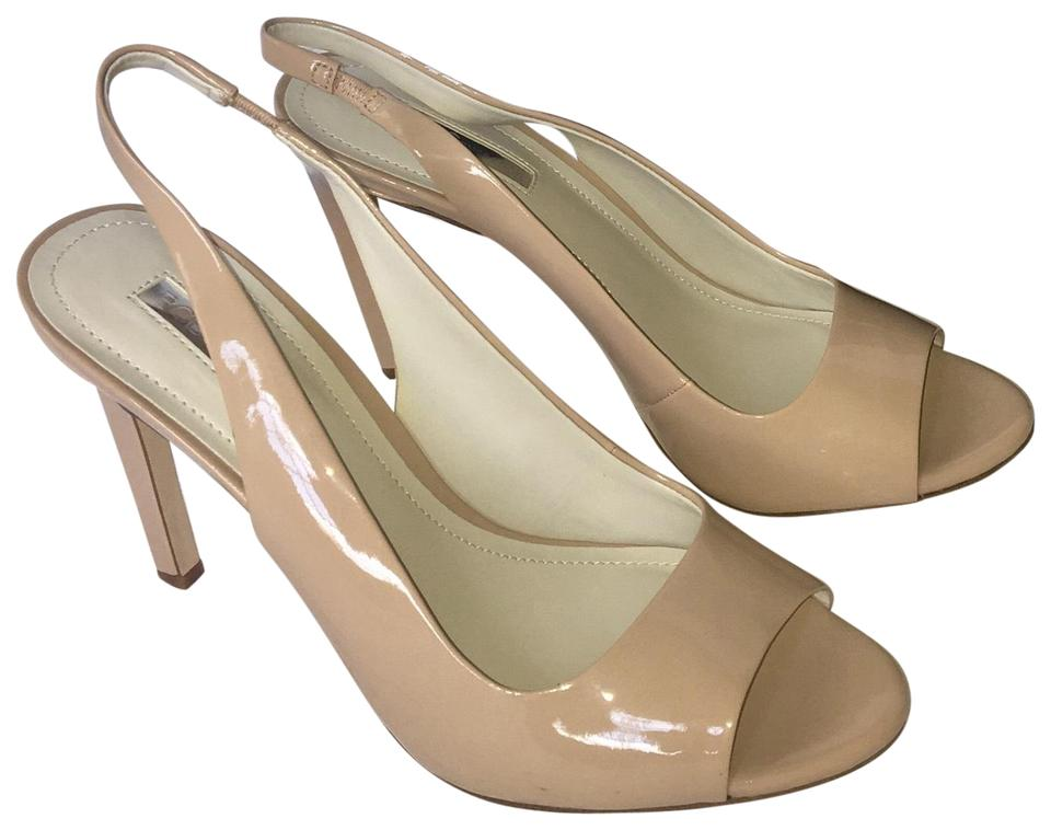81139c3e5e BCBGeneration Nude Box Heels Sling Back New With Pumps Size US 9.5 ...