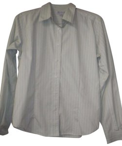 Red House Striped Non Iron Long Sleeve Button Front Career Button Down Shirt White/Lime