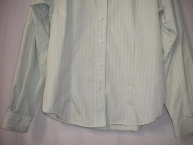 Red House Striped Non Iron Long Sleeve Button Front Career Button Down Shirt White/Lime Image 2