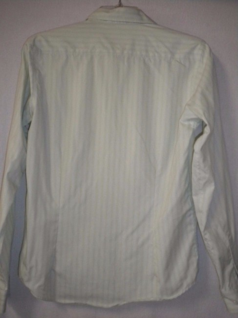 Red House Striped Non Iron Long Sleeve Button Front Career Button Down Shirt White/Lime Image 3