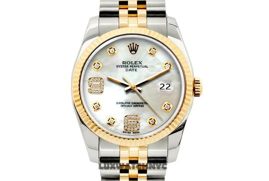 Rolex 34MM ROLEX DATE GOLD STAINLESS STEEL WITH BOX & APPRAISAL Image 1