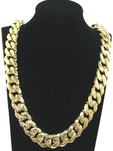 Other 10KT. Miami Cuban Link 15 MM Box Lock Necklace