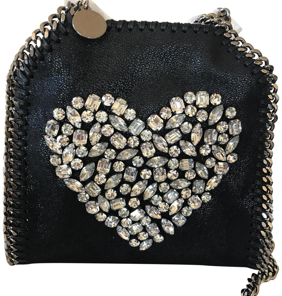 Bag Tiny Falabella Stella Body Black Cross McCartney Heart Shoulder 8HEwR7Eq