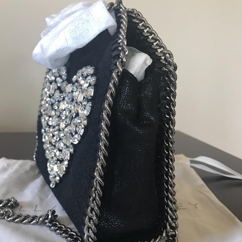 Bag Body Falabella Stella Heart Black Cross McCartney Shoulder Tiny 6xZwU68