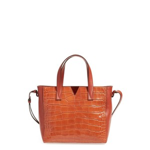 Vince Leather Leather Tote Mini Tote Cross Body Bag