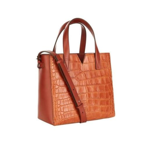Vince Leather Leather Tote Mini Tote Cross Body Bag Image 1