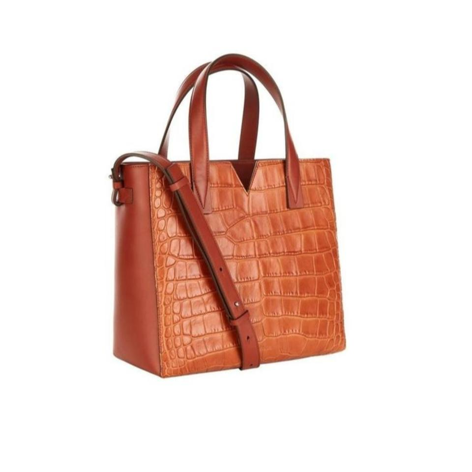 Whiskey Signature Brown Tote Body Cross Croc Baby Vince Leather V Bag embossed ZYqWw6nHT