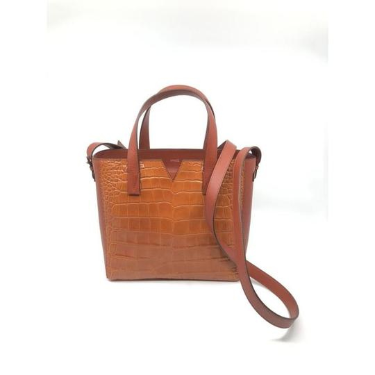 Vince Leather Leather Tote Mini Tote Cross Body Bag Image 2