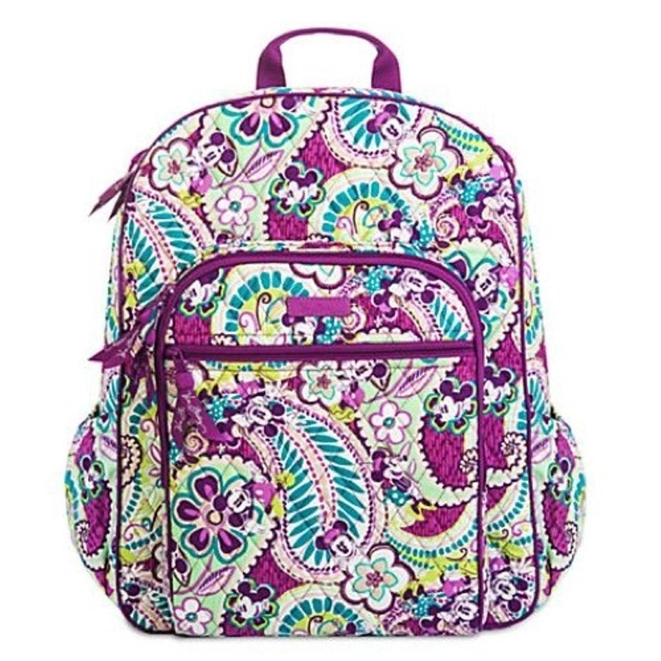 Vera Bradley Disney Campus Plums Up Mickey Purple Green Backpack