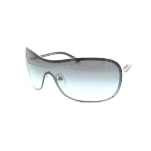 Chanel Gray Gradient Pearl Plum Shield 4170H Sunglasses