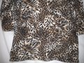 JM Collection 3/4 Sleeve Animal Print Sequin Sweater Image 2