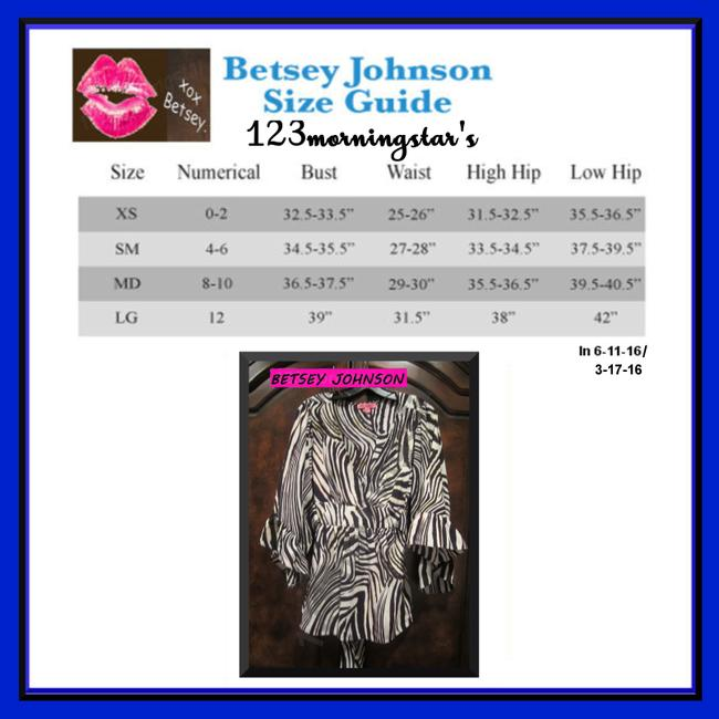 Betsey Johnson Collarless V-neck Babydoll Style 3/4 Sleeve Empire Waist Zebra Print Top Multi-Color Brown Image 7