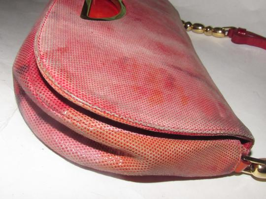 Dior Baguette/Shoulder Gold Accents Galliano Style Dressy Or Casual Shoulder Bag Image 5