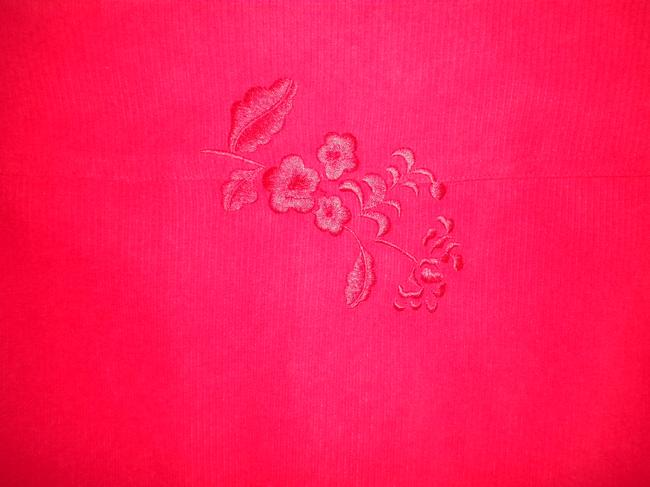 Graff Embroidered Long Sleeve Button Front Medium Weight Shirt Button Down Shirt Red Image 4